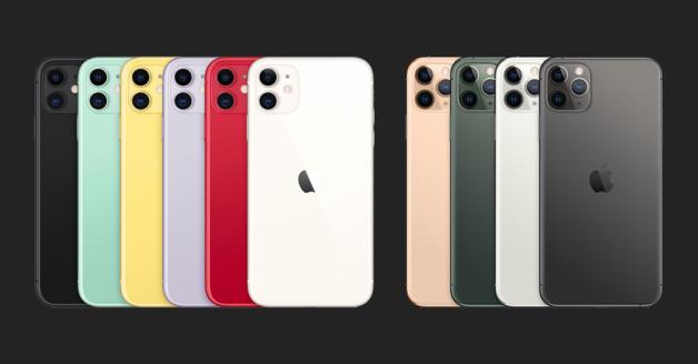 iPhone 11, iPhone 11 Pro en iPhone 11 Pro Max kleuren