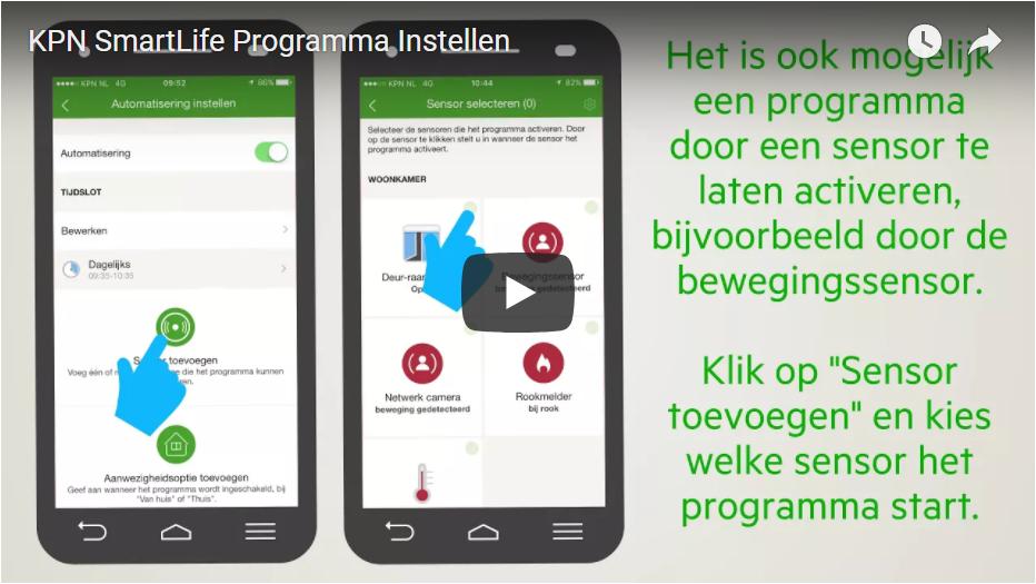 KPN SmartLife Programma Instellen