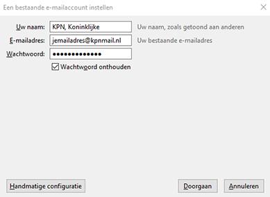 vul je mailadres en wachtwoord in