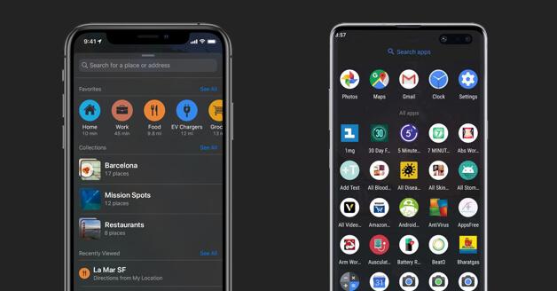dark mode op android en iphone