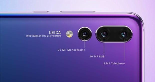 Huawei P20 Pro met 3 lenzen