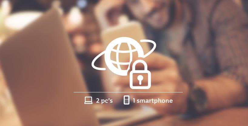 Optimaal beschermd en veilig ondernemen met het Internet Veiligheidspakket voor 2 pc's en 1 smartphone