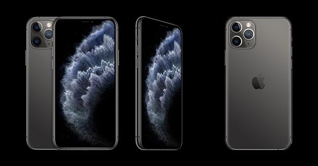 iPhone 11 Pro: de voorkant, zijkant en achterkant.