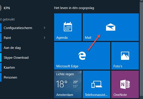 E-mail voor Windows 10 instellen of verwijderen | KPN