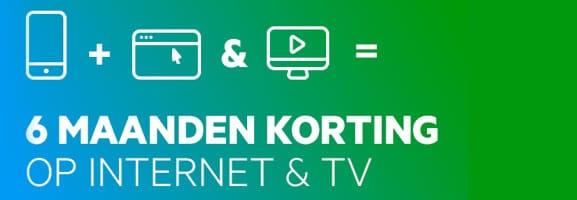 6 maanden korting Internet en TV