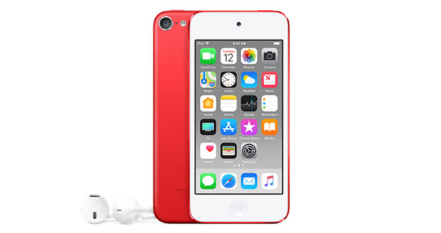 iPod touch in het rood
