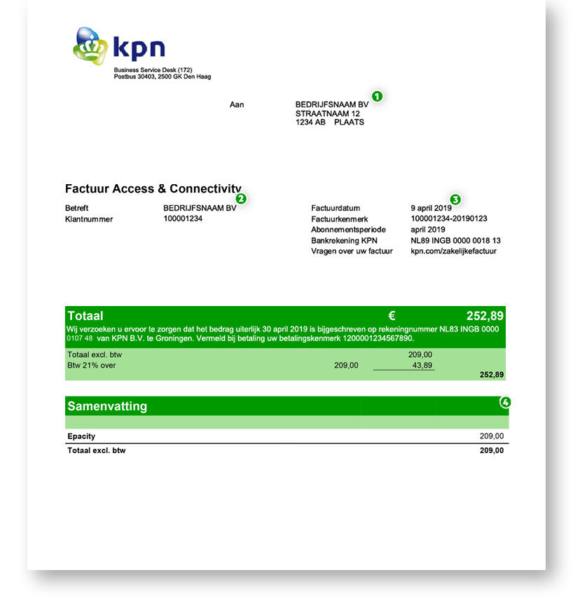 VPN factuur 1