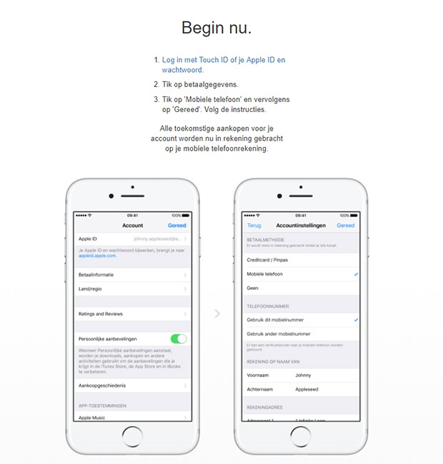 Apps betalen via KPN factuur