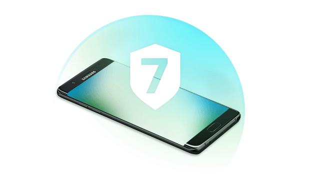 Smartphone Samsung beveiligen