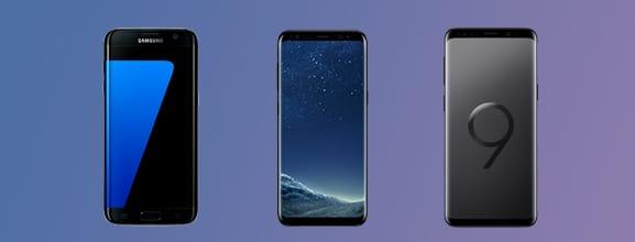 Samsung S7, S8 en S9 vergelijken