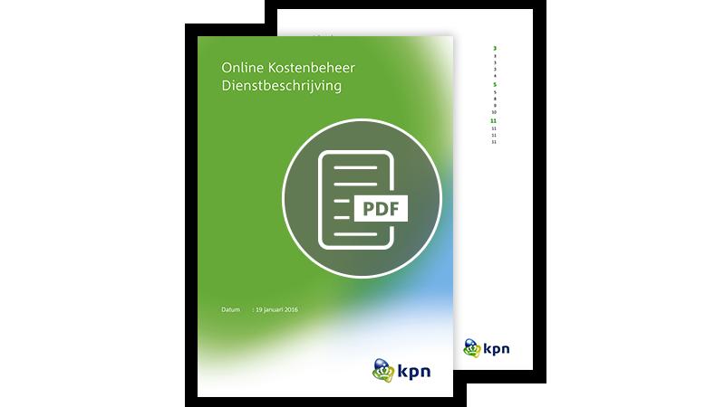 Download de brochure Online Kostenbeheer Dienstbeschrijving
