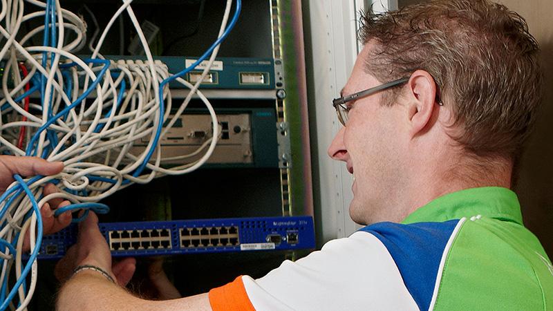 Lan netwerk: herstelgarantie service van netwerk