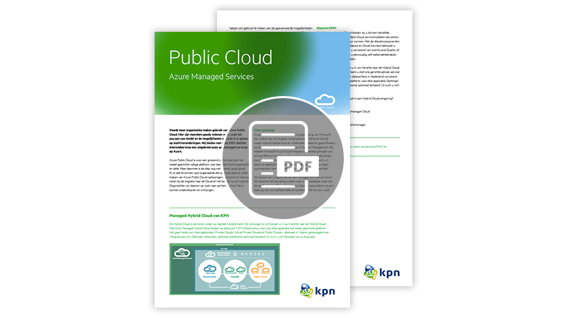 Download de factsheet: Public Cloud