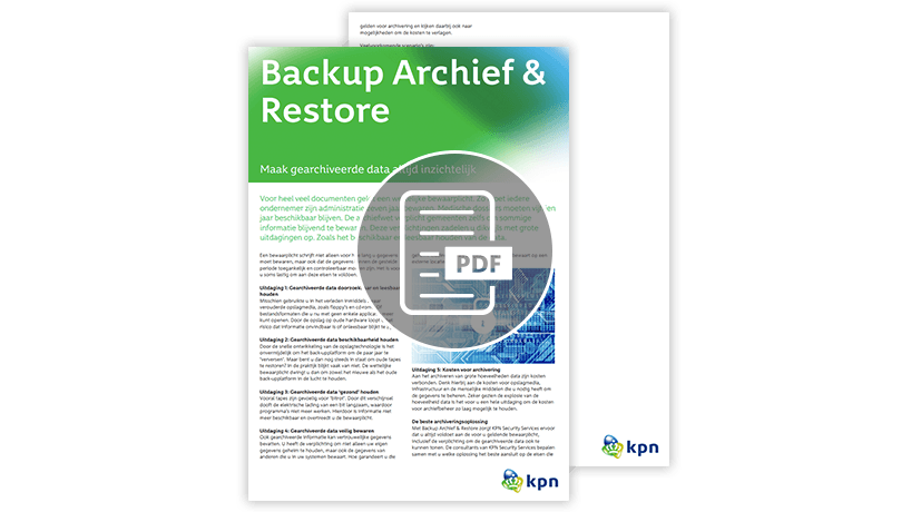 Whitepaper backup, archief en restore