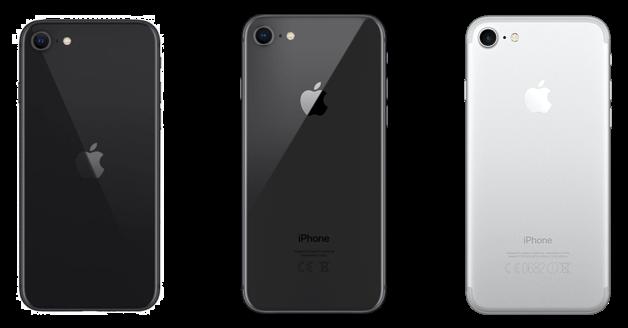iPhone SE, iPhone 8, iPhone 7