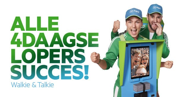 Walkie & Talkie dragen interactieve schermen, zodat jij je wandelheld succes kunt wensen!