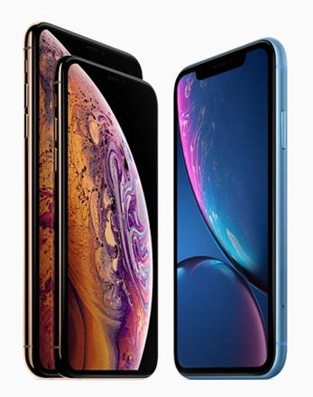iPhone Xs, Xs Max en XR