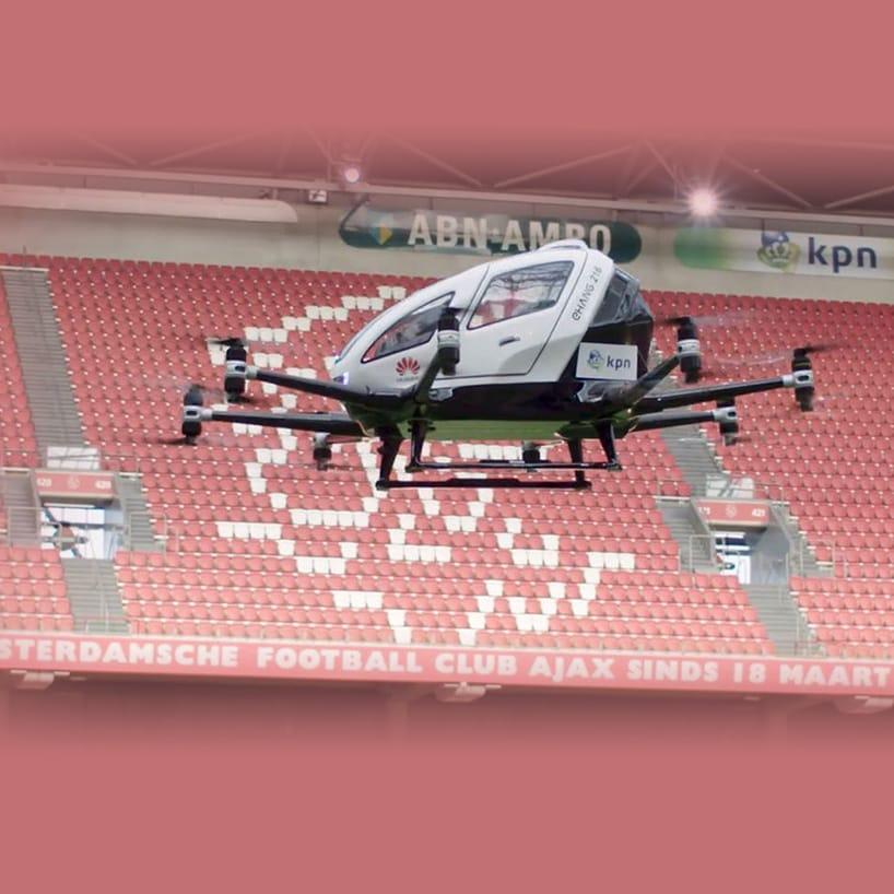 Huawei, Ehang en KPN testen passagiersdrone in de Arena