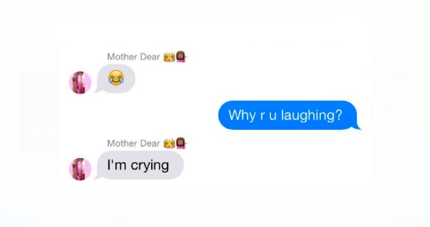 App gesprek emoji huilend poppetje