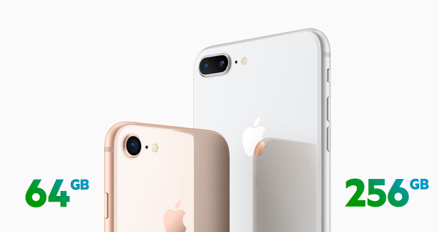 iPhone 8 64GB of 256GB