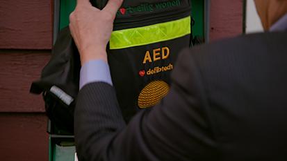 Slimme Automatische Externe Defibrillator (AED)-kasten