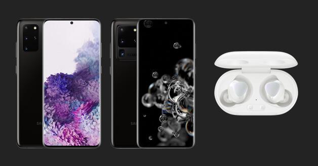 Samsung Galaxy S20 Plus en S20 Ultra en Earbuds Plus