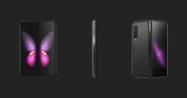 Samsung Galaxy Fold: voorkant, zijkant en achterkant