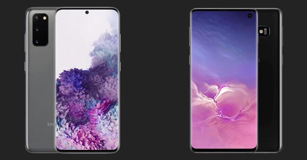 Samsung Galaxy s10 en Samsung Galaxy S20
