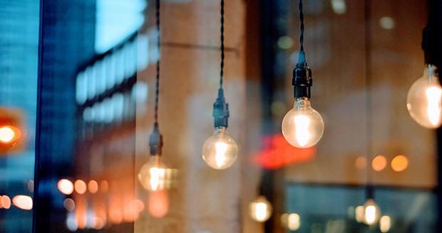 Lamp met bokeh effect
