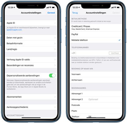 Betalen via je KPN factuur Apple ID