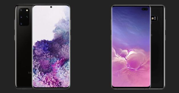 Samsung Galaxy S10 Plus en Samsung Galaxy S20 Plus