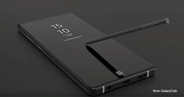 De nieuwe Note9 komt met een nieuwe S Pen.